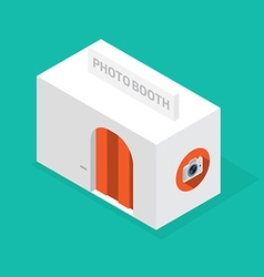Photobooth isometric vector image