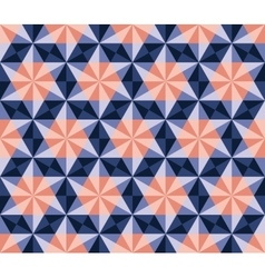 Seamless blue pink navy hexagonal triangles vector