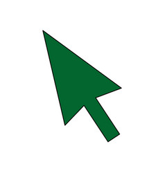 arrow direction cursor technology icon vector image