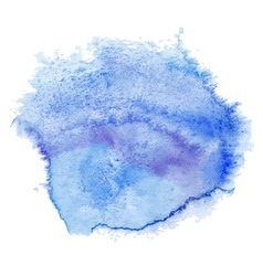 Blue watercolor spot vector