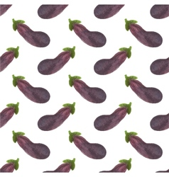 Seamless watercolor pattern with eggplant or vector