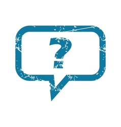 Grunge question message icon vector
