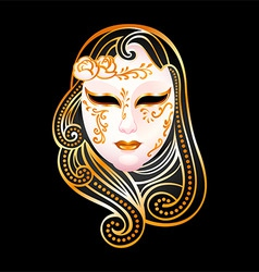 golden mask vector image