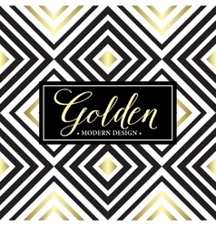Gold geometric seamless pattern card template vector