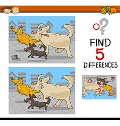 Differences educational game vector