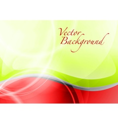 Background abstract red and green wave text vector