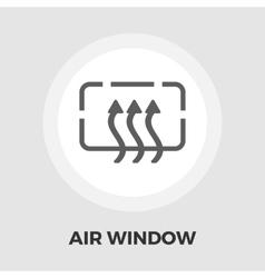 Heated car mirror flat icon vector image