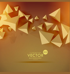 Abstract 3d polygon background design vector