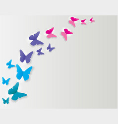 Abstract paper cut out butterfly background vector