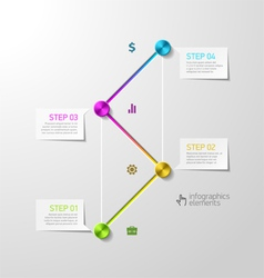 Abstract steps infographics design template vector image vector image