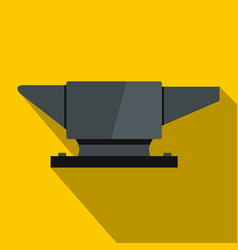 Anvil icon flat style vector