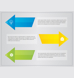 Arrow with border text infographic vector