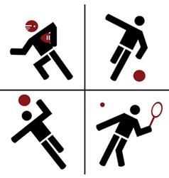 ball sport symbols vector image