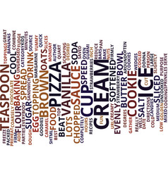 Best recipes ice cream cookie pizza text vector