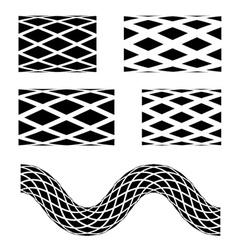 Black seamless garden hose symbols vector