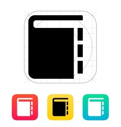 Book with pointers icon vector