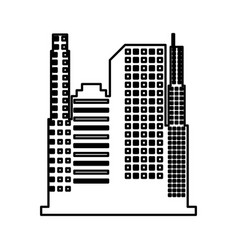 building silhouette isolated icon vector image vector image
