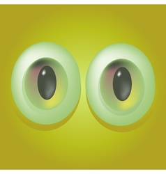 Cartoon monster eyes vector