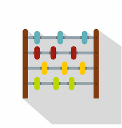 Children abacus icon flat style vector