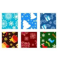 Christmas textures vector