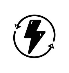 Contour energy hazard symbol with arrows around vector