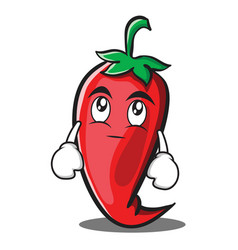 eye roll red chili character cartoon vector image