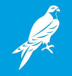 Falcon icon white vector