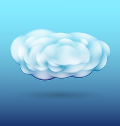 Fluffy cloud with shadow vector image