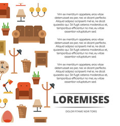 furniture shop poster design - banner with flat vector image