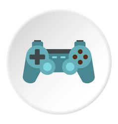 Game joystick icon circle vector