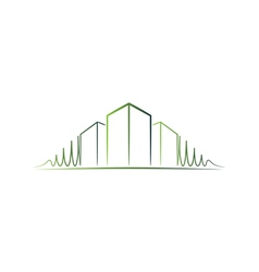 Green architect logo vector