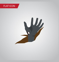 isolated corpse hand flat icon zombie vector image vector image