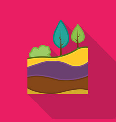 Layers of the earth icon in flat style isolated on vector