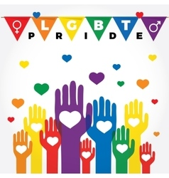 Lgbt support fight for gay rights helping hands vector image vector image