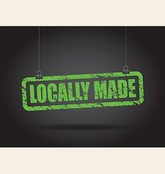 Locally made green vector