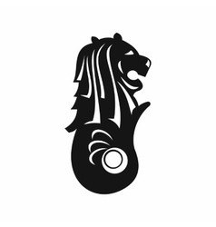 Merlion statue Singapore icon simple style vector image vector image