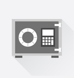 money safe icon in flat style on white background vector image vector image