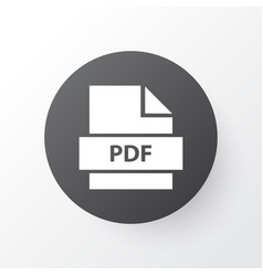 pdf icon symbol premium quality isolated paper vector image vector image