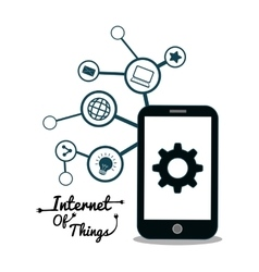 Smartphone internet of things design vector