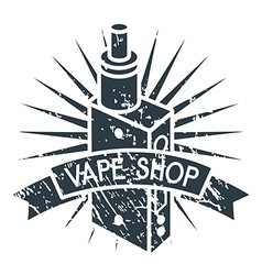 Vape shop logo vector