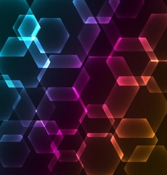 Bokeh blur with hexagons background vector