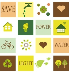 save the environment eco set vector image