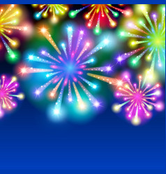 large fireworks display - background vector image