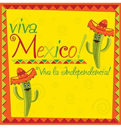 Viva mexico card design vector