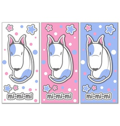 Cute bull terrier with stars vector image