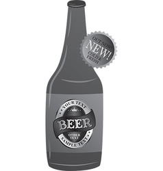 Beer bottle design vector