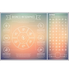 Business line design infographic template vector