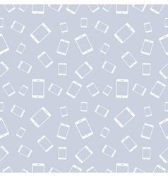 Seamless pattern with white smartphones vector