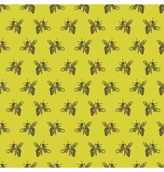Background with bees vector