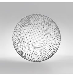 3d sphere global digital connections technology vector